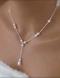 la mode shixin® beau collier blanc pendentif perle (1 pc)
