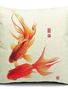 Freedom Goldfish Cotton/Linen Decorative Pillow Cover