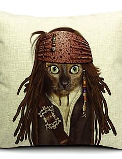 Cool Cat bomull / linne dekorativa örngott