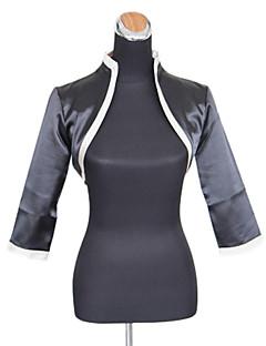 Wedding / Party/Evening / Office & Career Satin Coats/Jackets 3/4-Length Sleeve Wedding  Wraps
