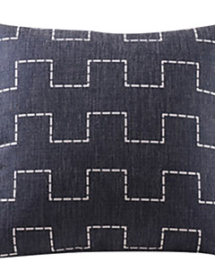 ville noire de coton de mur / lin taie d'oreiller décoratif