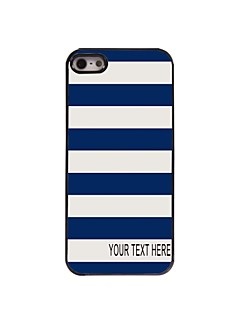 Personalized Case Stripe Design Metal Case for iPhone 5/5S