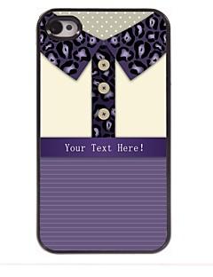 leopardo presente caso camisa impressão design de metal personalizado para iPhone 4 / 4S