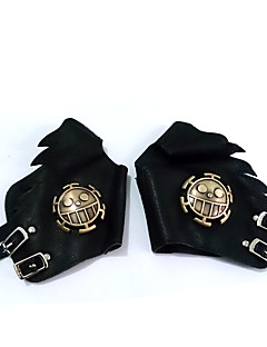 Gloves Festival/Holiday Halloween Costumes Black Halloween / Carnival Unisex Polyurethane Leather