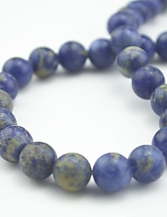 Toonykelly 10MM Cute Natural Blue Lapis Lazuli Round Stone DIY Beads 30Pc/Bag