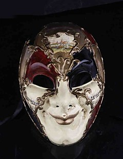 Mask Cosplay Festival/Holiday Halloween Costumes Red / White Print Mask Halloween Male PVC