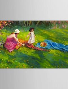 gerilmiş çerçeve ile steve henderson tarafından elle boyanmış yağlıboya insanlar karahindiba