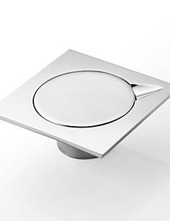 badeværelse tilbehør gulvafløb, moderne messing krom finish (0605-DL08)
