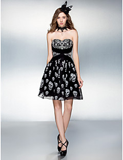 Cocktail Party / Prom Dress - Print Plus Sizes / Petite A-line Sweetheart Knee-length Chiffon