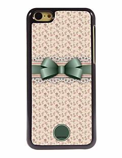 presente personalizado bonito bowknot e flor caso design de metal para iphone 5c