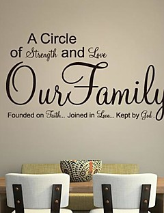 jiubai ™ familie citat wallsticker wallstickers