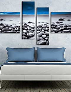 Stretched Canvas Art Beach Scenery Set of 4