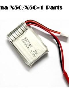 SYMA x5c / x5c-1 opdagelsesrejsende dele x5c-11 3.7v 500mAh opdatering 3.7v 680mah lipo batteri m / jst