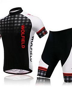 West biking Camisa com Shorts para Ciclismo Homens Manga Curta Motobraço aquecedores Camisa/Roupas Para Esporte Shorts Conjuntos de
