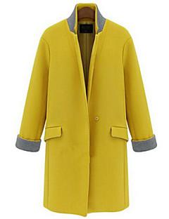 один boutton среднего долго шерстяные пальто