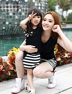 Short Sleeve Cotton Blend/Polyester Family Clothing Sets , Summer Clothing Set