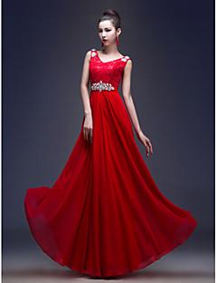 Formal Evening Dress - Ruby A-line/Princess V-neck Floor-length Lace/Georgette