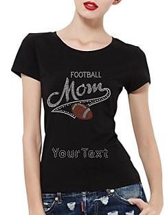 personalizirani vještački dijamant majice nogometni mama uzorak ženske pamučne kratke rukave
