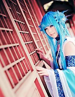 de legende van het zwaard en sprookjes lyukuwai blauwe cosplay pruik