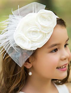 Capacete Flores Casamento/Ocasião Especial Tule/Seda Mulheres/Menina das Flores Casamento/Ocasião Especial