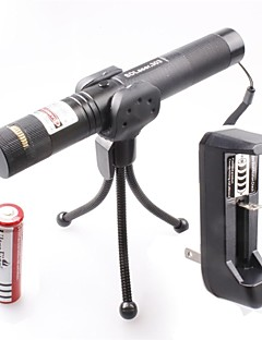 LT-0674 Muti-patterns Full Star Adjustable Focus Burning Lighter Cutting Green Laser Pointer Kits(5mw,532nm,1xCR18650)