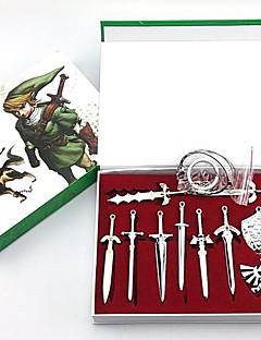 a lenda do mestre zelda modelo espada chaveiro (10pcs)