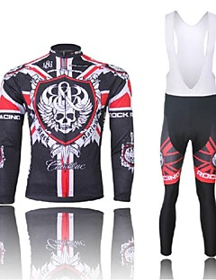 WEST BIKING® Cycling Jersey with Bib Tights Men's Long Sleeve Bike Breathable / Quick Dry / Anatomic Design / 3D Pad / Reflective Strips