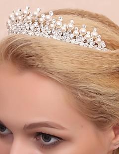 Kristallen/Licht Metaal/Kubieke Zirkonia Vrouwen/Bloemenmeisje Helm Bruiloft/Speciale gelegenheden Tiara's Bruiloft/Speciale gelegenheden