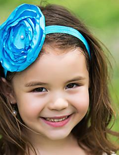 flor headpiece poliéster da menina de flor crianças
