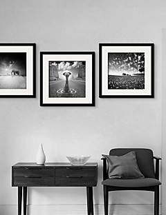 Animal Framed Canvas / Framed Set Wall Art,PVC Black Mat Included With Frame Wall Art