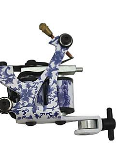 Porcelana azul y blanca clásica Tattoo Machine Gun para el revestimiento y sombreado