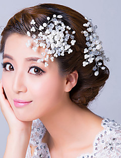 Women's Alloy / Imitation Pearl / Cubic Zirconia Headpiece-Wedding / Special Occasion Hair Combs / Flowers