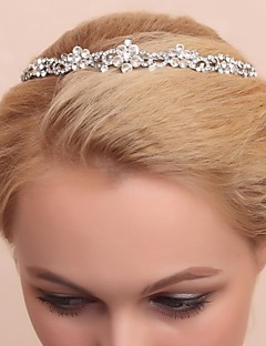 Dame/Blomsterpige Legering/Kubisk Zirkonium Headpiece Bryllup/Spesiell Leilighet Diademer Bryllup/Spesiell Leilighet