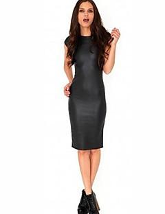 שמלת עור pu האופנה לנשים