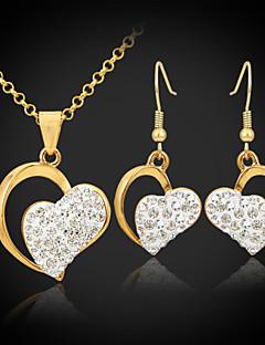 u7® 18k vergulde oostenrijkse swa strass Shamballa harten sieraden sets sieraden cadeau voor vrouwen