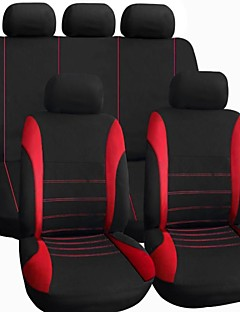 Tirol Universal Car Seat Cover Set New Black Gray/RED 9Pieces/Set For Crossovers SUV Sedans