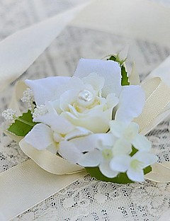 Brudebuketter Håndbundet Roser Håndledskorsage Bryllup Fest & Aften Satin