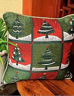 christmas tree jacquard lin motif de coton taies d'oreiller décoratif