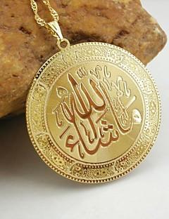 18k zlatni pozlatom Allah musliman privjesak
