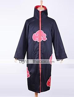קיבל השראה מ Naruto Akatsuki אנימה תחפושות קוספליי חליפות קוספליי דפוס שרוול ארוך גלימה עבור זכר