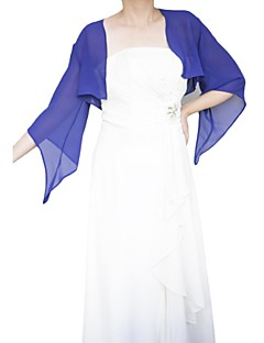 3/4-Length Sleeve  Chiffon Horn sleeve Wedding/Special Occation Wraps(More Colors) Bolero Shrug
