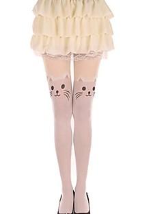 Meias e Meias-Calças Doce Lolita Princesa Branco Lolita Acessórios Meias Finas Animal Para Feminino Veludo