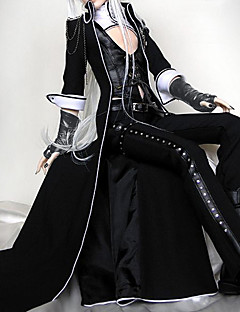 Vampire Viscount BJD Outfits Punk Lolita Lolita Cosplay Lolita Dress Black Solid Lolita Coat / Vest / Pants For Women Leather / Uniform Cloth
