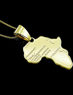 18K Gold Plated Map Of Africa Pendant