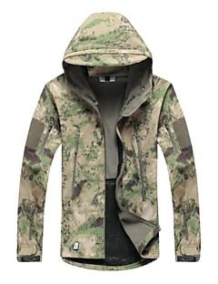 집 밖의 남녀 공용 탑스 / 자켓 / 소프르쉘 자켓 / 겨울 자켓 캠핑 & 하이킹 / 피싱 / 등산 방수 / 통기성 / 높은 호흡 능력(>15.001g) / 빠른 드라이 / 비 방지 / 전면 지퍼 / 착용 가능한 가을 / 겨울 캐모플라지 - 기타