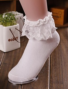 Women's Fashion Solid Color Lace Socks