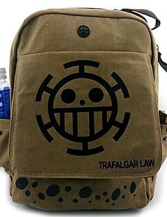 ett stycke död läkare trafalgar lag svarta prickar mönster cosplay ryggsäck / väska