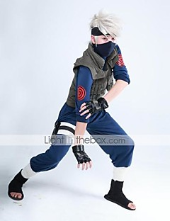 Naruto Kakashi Ninja Uniform Costume+Band+Gloves Cosplay Suit