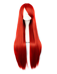 Cosplay Wigs Fairy Tail Erza Scarlet Red Long Anime Cosplay Wigs 80 CM Heat Resistant Fiber Female