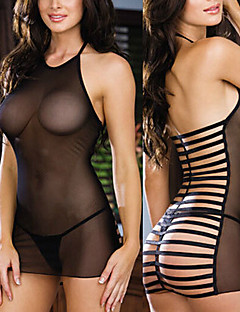 Transparent Bandage Back Black Sexy Lingerie